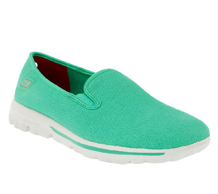 """As Is"" Skechers GOwalk Cadence Canvas Slip-on Shoes"