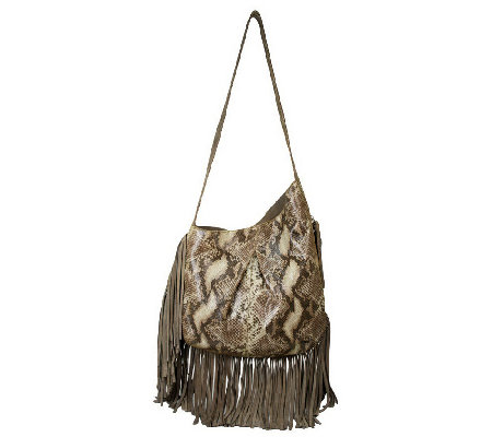 """As Is"" Muxo by Camila Alves Leather & Suede Asymmetrical Hobo Bag"
