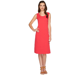 Susan Graver Weekend French Terry Sleeveless Dress - A265040