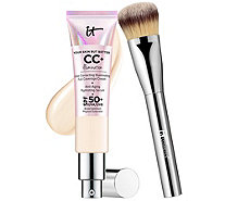 IT Cosmetics Full Coverage SPF 50 CC Cream Illumination w/ Plush Brush - A266440
