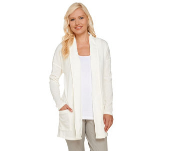 Attitudes by Renee Combed Knit Open Front Cardigan - A267440