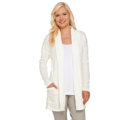 Attitudes by Renee Combed Knit Open Front Cardigan