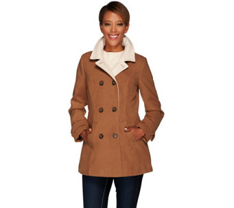 Isaac Mizrahi Live! Double Breasted Peacoat - A268340