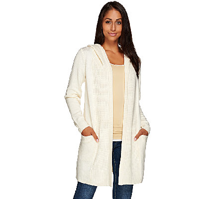 Isaac Mizrahi Live! SOHO Hooded Sweater Coat
