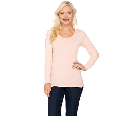 Isaac Mizrahi Live! Seamless Long Sleeve Knit Top