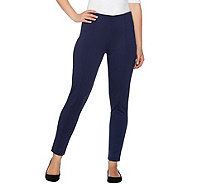 Lisa Rinna Collection Ponte Knit Ankle Pants w/ Seam Detail - A278940