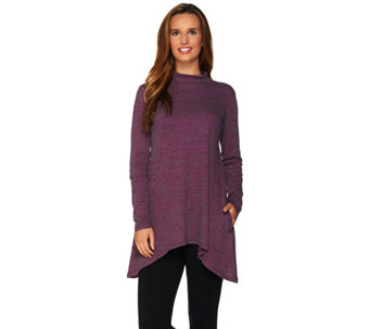 LOGO Lotus by Lori Goldstein Space Dye Ribbed Knit Top - A279440