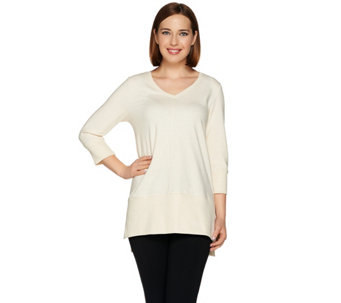 H by Halston 3/4 Sleeve Baby French Terry Tunic - A281240