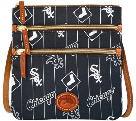 Dooney & Bourke MLB Nylon White Sox Triple Zip Crossbody