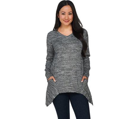 LOGO by Lori Goldstein Melange Cotton Cashmere Sweater - Page 1 ...