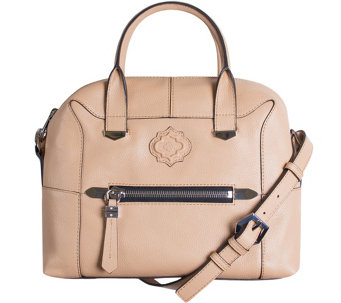 """As Is"" orYANY Pebble Leather Satchel - London - A284640"
