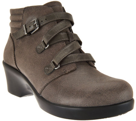 Alegria Leather Ankle Boots with Buckle - Indi