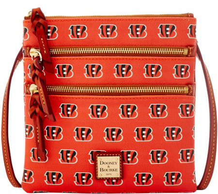 Dooney & Bourke NFL Bengals Triple Zip Crossbody