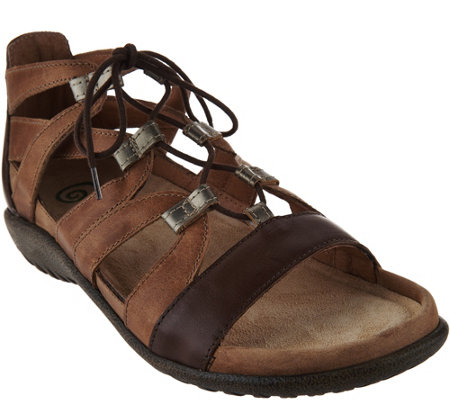 Naot Leather Ghillie Sandals - Selo