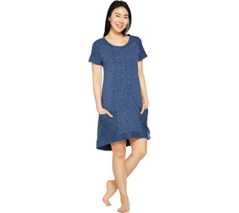 AnyBody Loungewear Cozy Knit French Terry Lounge Dress - A290140