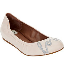 ED Ellen DeGeneres Leather Ballet Flats - Langston - A291040