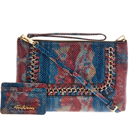"""As Is"" Aimee Kestenberg Crossbody with RFID CC Holder - Bayside"
