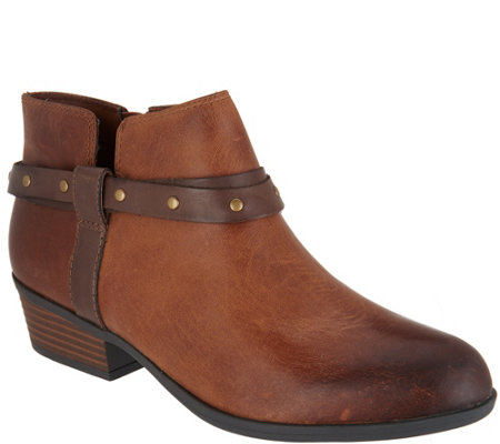 Clarks Leather Side Zip Boots - Addiy Zoie
