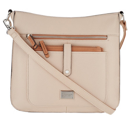 """As Is"" Tignanello Pebble Leather Oversized Crossbody"