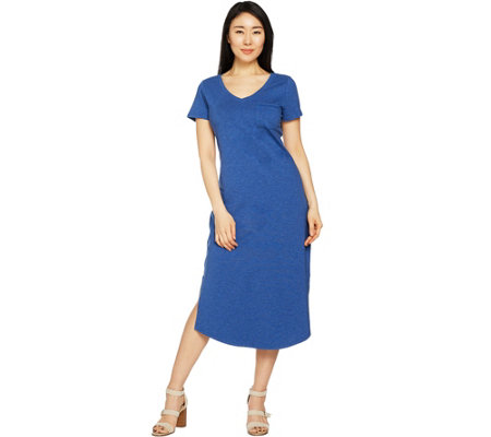 """As Is"" C. Wonder Petite Essentials Slub Knit Midi Dress"