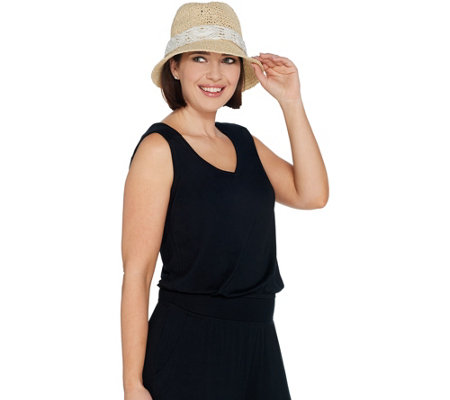 Physician Endorsed Adjustable & Packable Sun Hat with Trim