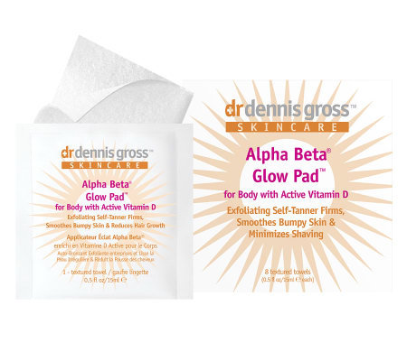 Dr. Gross Alpha Beta Glow Pads for Body with Vitamin D