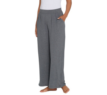 """As Is"" Cuddl Duds Flexwear Relaxed Wide Leg Pants"