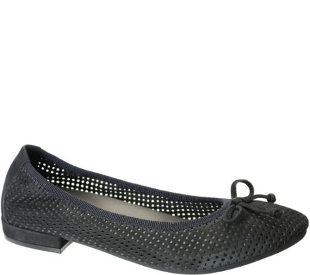 David Tate Perforated Leather Flats - Albany