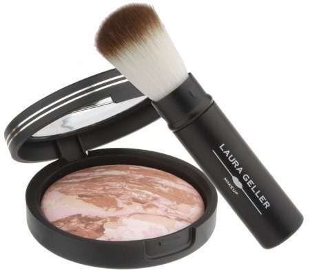 Laura Geller Baked Bronze N Brighten Powder with Brush