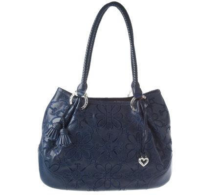 Brighton Valencia Leather Double Handle Shoulder Bag