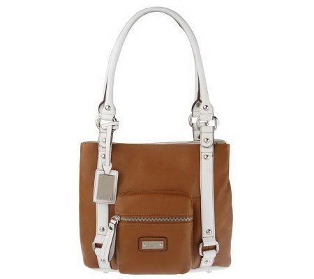 Tignanello Pebble Leather Pocket Shopper