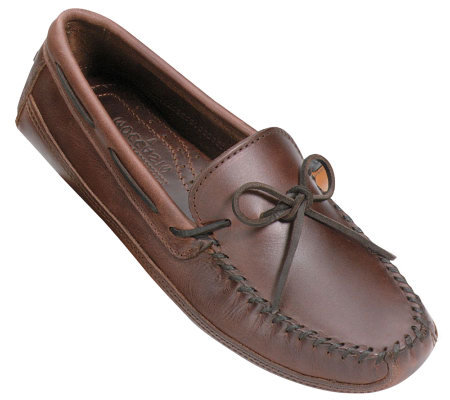 Minnetonka Men's Double Bottom Drivin g Moccasins