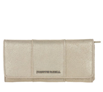 "Judith Ripka ""Bedford"" Weathered Gold Metallic Wallet - A213241"