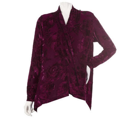 Burnout Velvet Scarf Jacket by VT Luxe