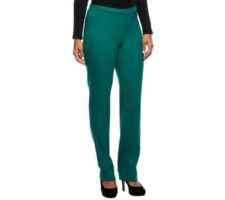 Isaac Mizrahi Live! 24/7 Stretch Petite Full Length Pants