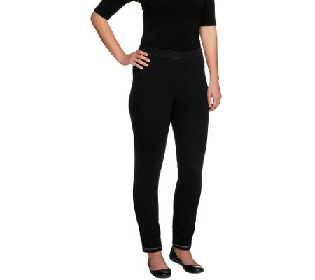Bob Mackie's Smart Denim Elastic Pull-on Leggings w/ Back Pockets