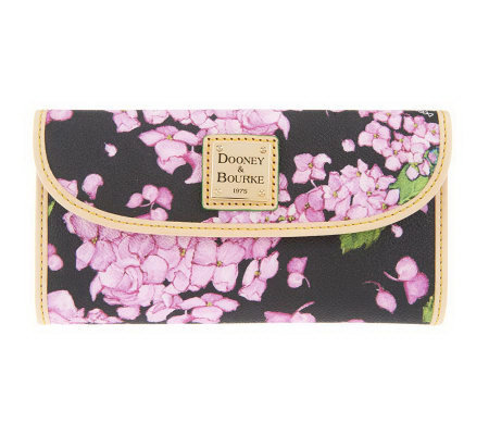Dooney & Bourke Coated Cotton Hydrangea Print Continental Clutch