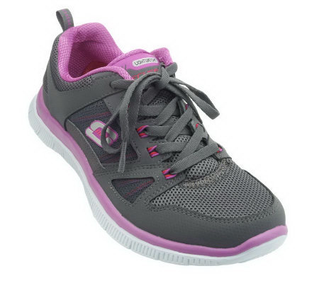Skechers Flex Appeal Memory Foam Lace-up Sneakers
