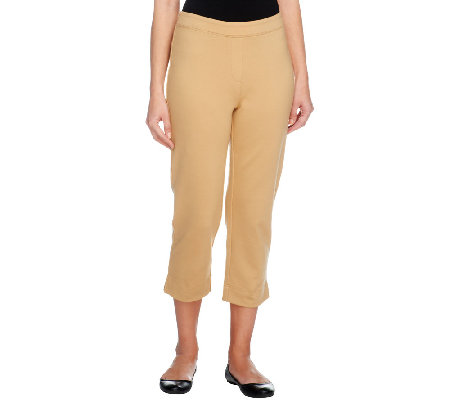 Joan Rivers Petite Ponte Knit Pull-on Crop Pants