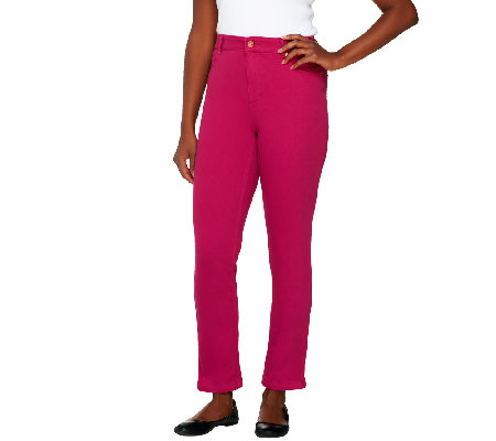 Isaac Mizrahi Live! Regular Knit Denim Ankle Pants