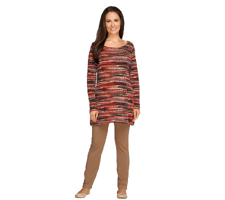 Women with Control Regular Printed Tunic & Slim Leg Pants Set