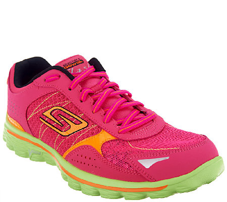 Skechers GOwalk 2 Lace-up Walking Sneakers - Flash