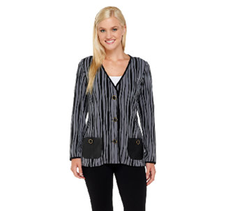 Bob Mackie's Knit Striped Jacket - A258141