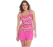 Ocean Dream Signature Global Scene Racerback Tankini & Short - A263741