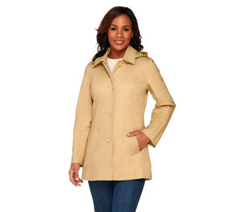 Isaac Mizrahi Live! Water Repellent Walking Coat - A263841