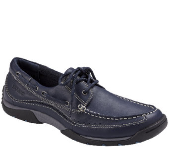 Vionic with Orthaheel Men's Orthotic Leather Boat Shoes - Eddy - A266241