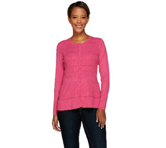 Linea by Louis Dell'Olio Whisper Knit Ribbed Cardigan - A268141