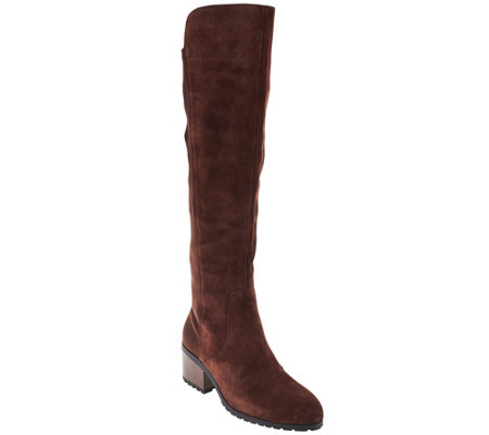 H by Halston Suede Over-the-knee Boots - Jessica