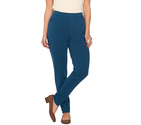 Denim & Co. Comfy Knit Denim Slim Leg Pull-On Pants