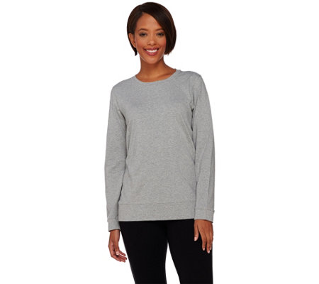 Denim & Co. Active Knit Jersey Long Sleeve Top